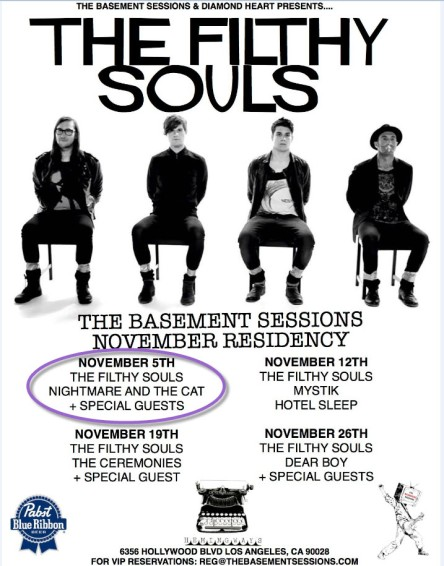 The Filthy Souls November Residency!